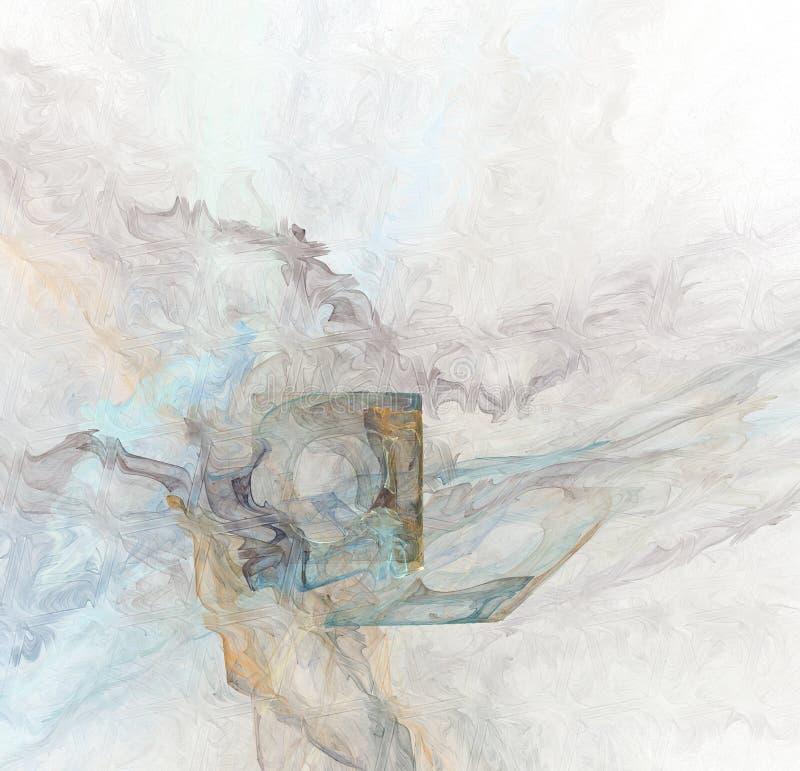 Derretendo um disco flexível retro/emanações tóxicas ilustração do vetor