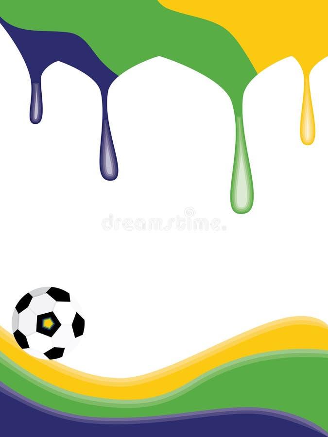 Derretimento da bola de Brasil ilustração stock
