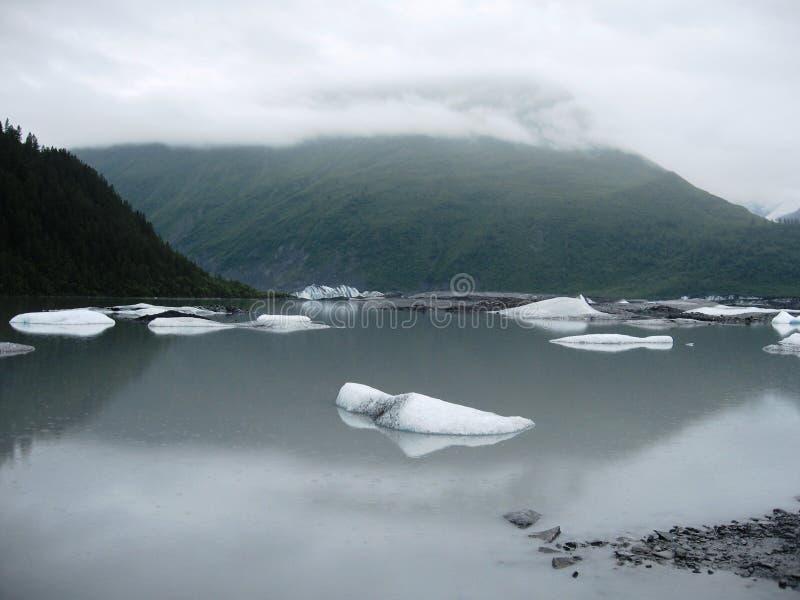 Derretimento da geleira de Alaska imagens de stock royalty free