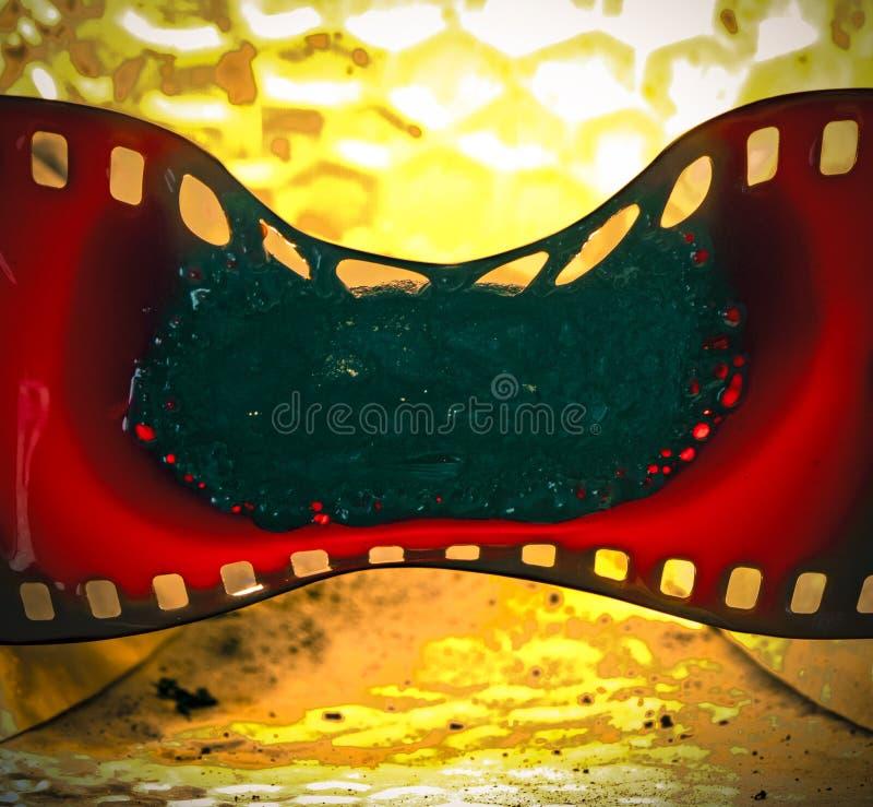 Derretimento do filme fotos de stock royalty free