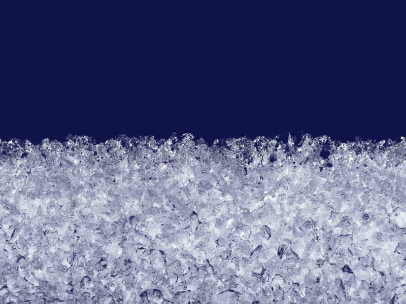 Derretimiento de los cristales de la nieve en la ventana imagen de archivo libre de regalías