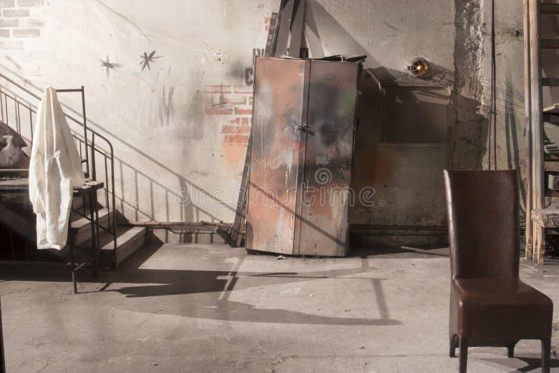 Derrière scène-à l'intérieur d'une salle de théâtre image libre de droits