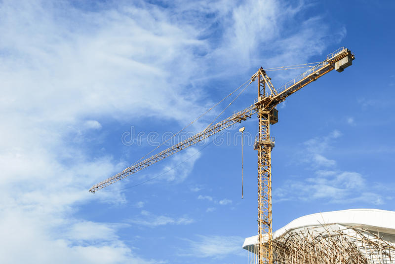Derrick At Construction Zone Royalty Free Stock Images