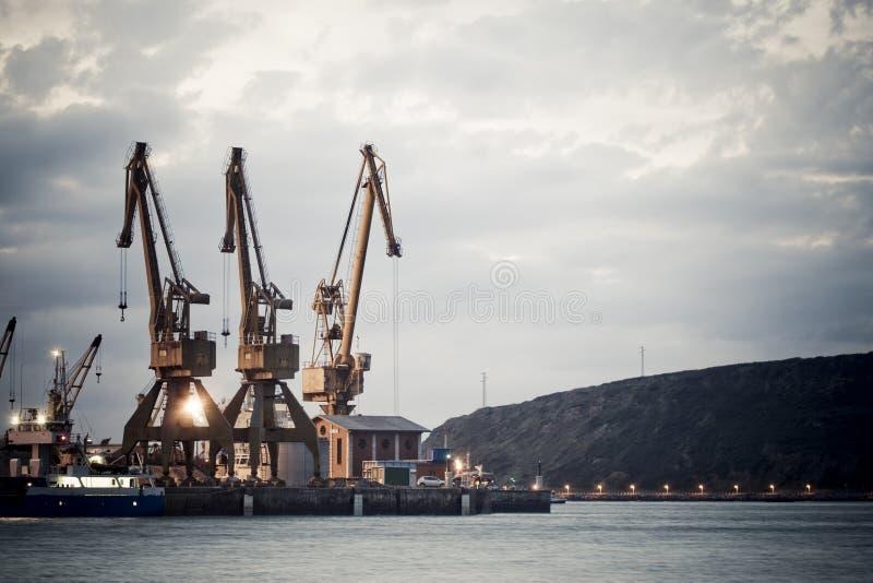 Download Derricks of the port stock image. Image of derricks, coastline - 6802275