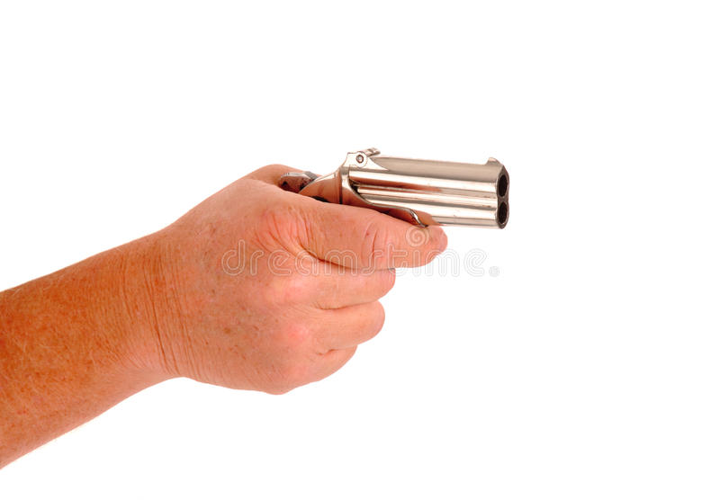 Download Derringer in hand stock photo. Image of derringer, holding - 30825782