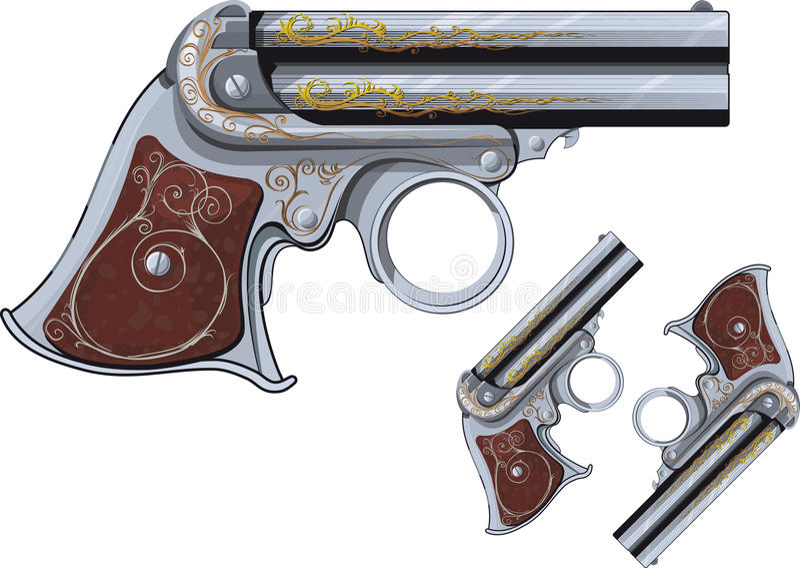 Derringer revolver royalty free stock photo