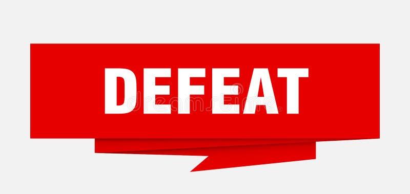 derrota ilustração do vetor