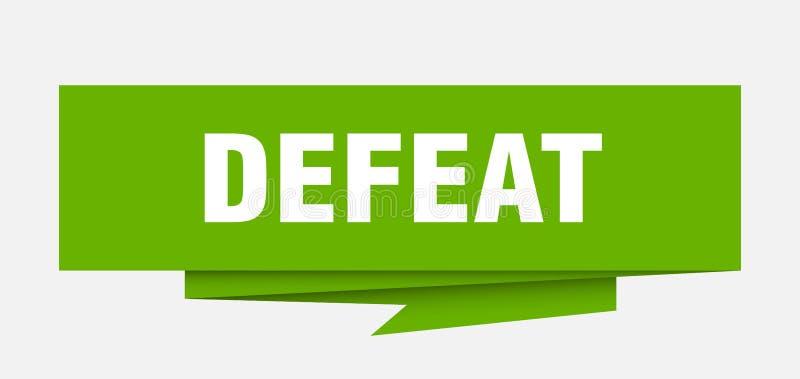derrota ilustração royalty free
