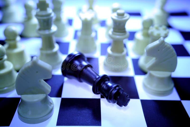 Derrota del ajedrez foto de archivo