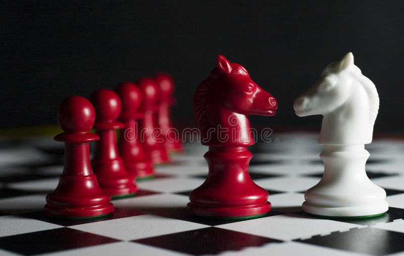 Derrota del ajedrez fotos de archivo libres de regalías