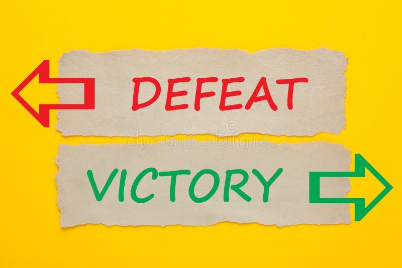 Derrota Victory Concept ilustração stock