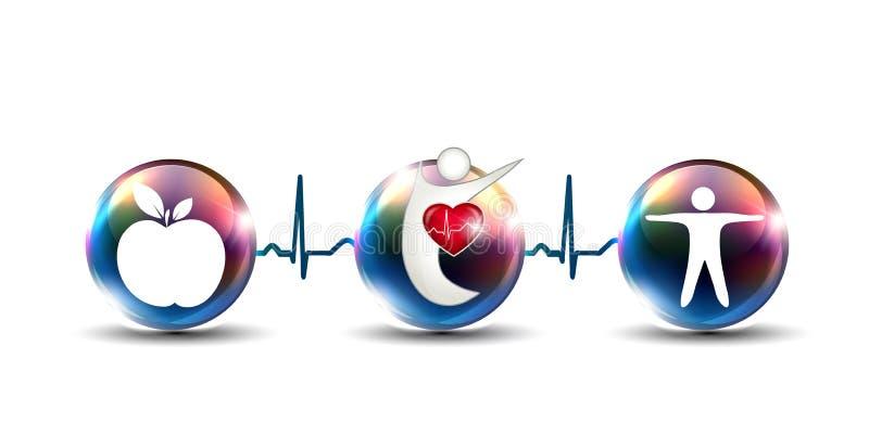 Derruba como reforçar o sistema cardiovascular ilustração royalty free