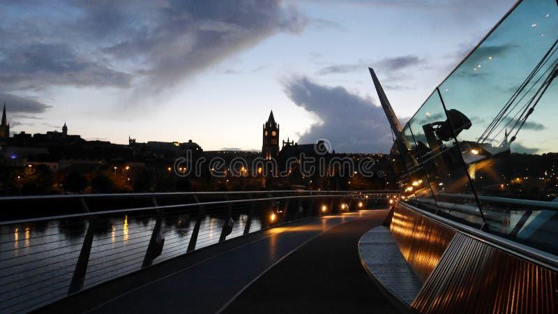 Derry al crepuscolo fotografia stock