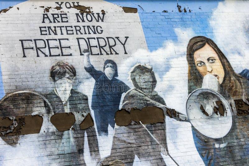 Derry, Irlande du Nord image stock