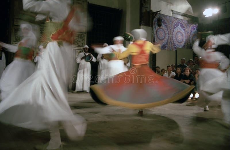 Derviches de giro de Sufi, El Cairo, Egipto fotografía de archivo