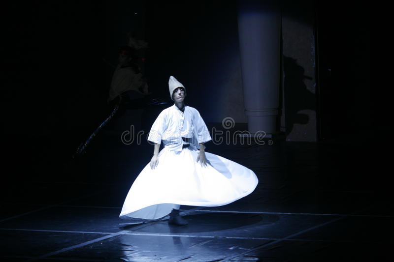 Dervish dance. Unique dance show performed in turkey and showing history of turkey by dancing . Fire of Anatolia photo taken :Gloria Aspendos Arena in Turkey 10