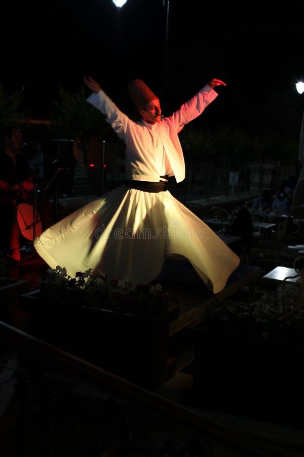 Dervish dance. Turkey. Dervish dance show in Istanbul, Turkey stock photos