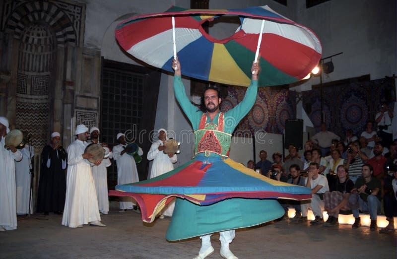 Dervish girantesi di Sufi, Cairo, Egitto fotografia stock libera da diritti