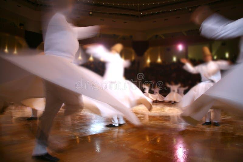Dervishes de Mevlana que dançam no museu fotografia de stock royalty free