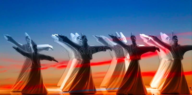 Dervixes da dança imagens de stock