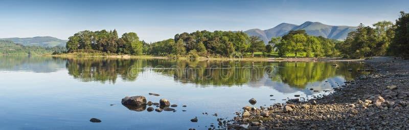 Derwent水,湖区,英国 免版税图库摄影