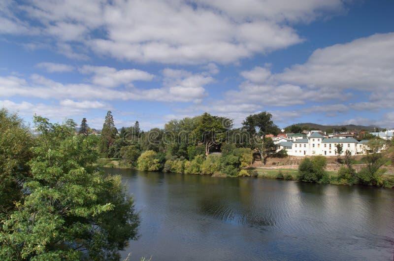 Derwent flod, Tasmania royaltyfri fotografi