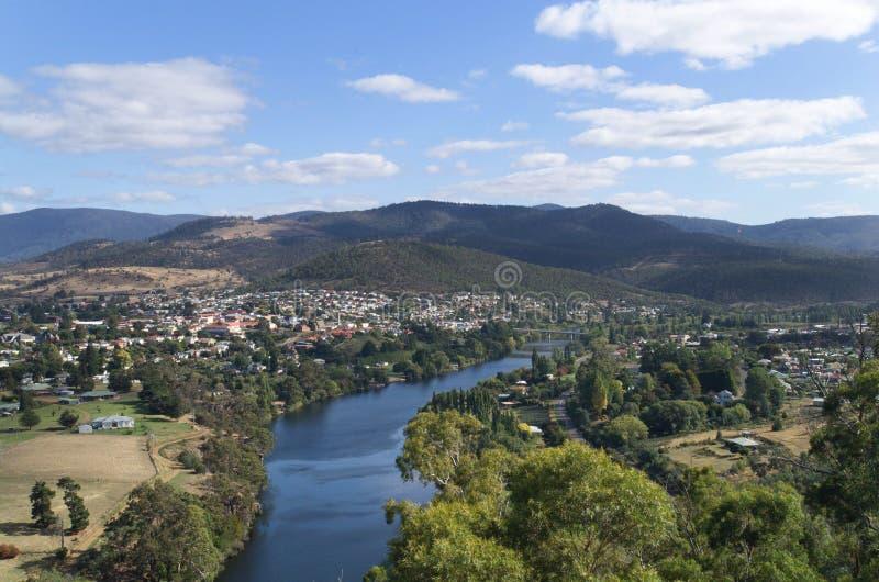 Derwent Fluss, Tasmanien stockfotografie