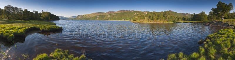 Derwent vatten, sjöområde, UK arkivbilder