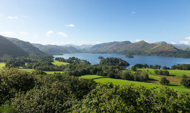 Derwent Water From Castlehead Viewpoint Stock Photography