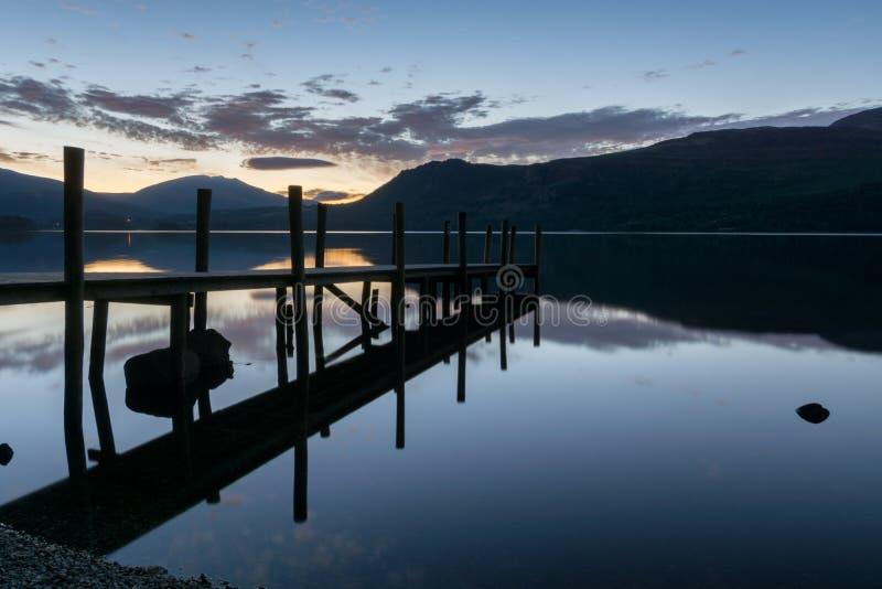 Derwentwater Dawn Reflections στοκ φωτογραφία με δικαίωμα ελεύθερης χρήσης