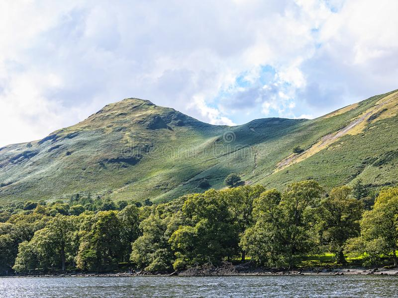 Derwentwater in the Lake District in North West England. The Lake District is a place of considerable scenic beauty. It is surrounded by hills known locally as royalty free stock photos