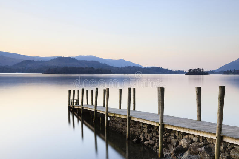 Download Derwentwater Landing Stage stock image. Image of hill - 29448355