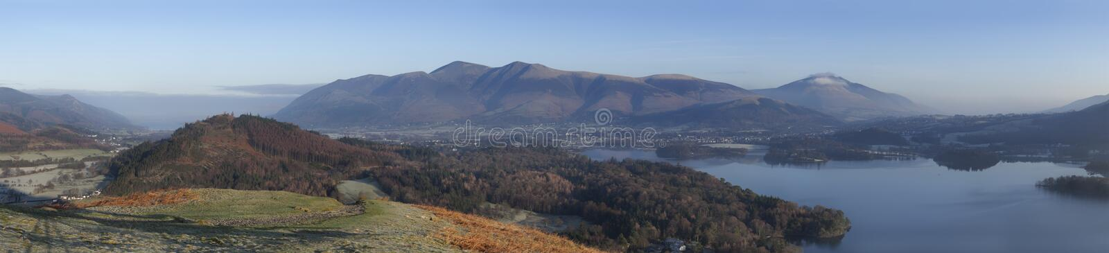 Derwentwater Sunrise royalty free stock photography