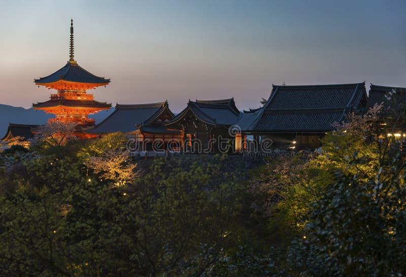dery dziedzictwa Japonii Kioto kiyomizu unesco wymienionych świątynię świat obrazy royalty free