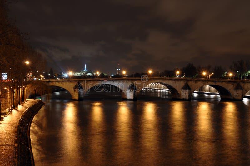 des искусств et перемет реки pont стоковое изображение