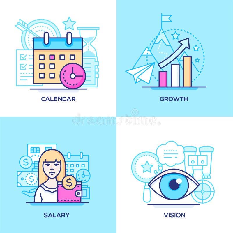 Des affaires - placez de la ligne illustrations color?es de style de conception illustration libre de droits