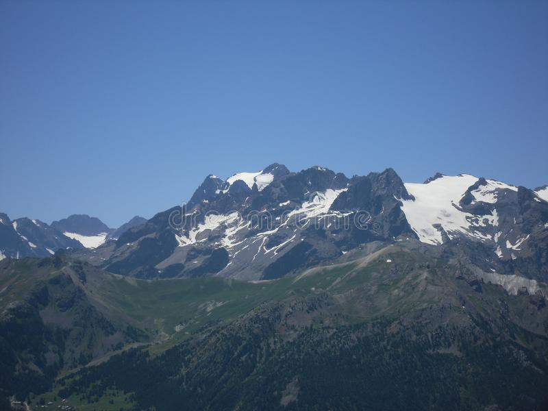 DES Agneaux de glacier dans les Hautes-Alpes France image stock