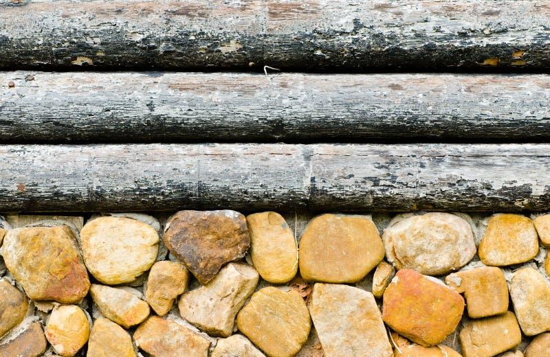 Des alten hölzerne Wand Kabinen-Hauses der Nahaufnahme für Hintergrundbenutzer stockbilder