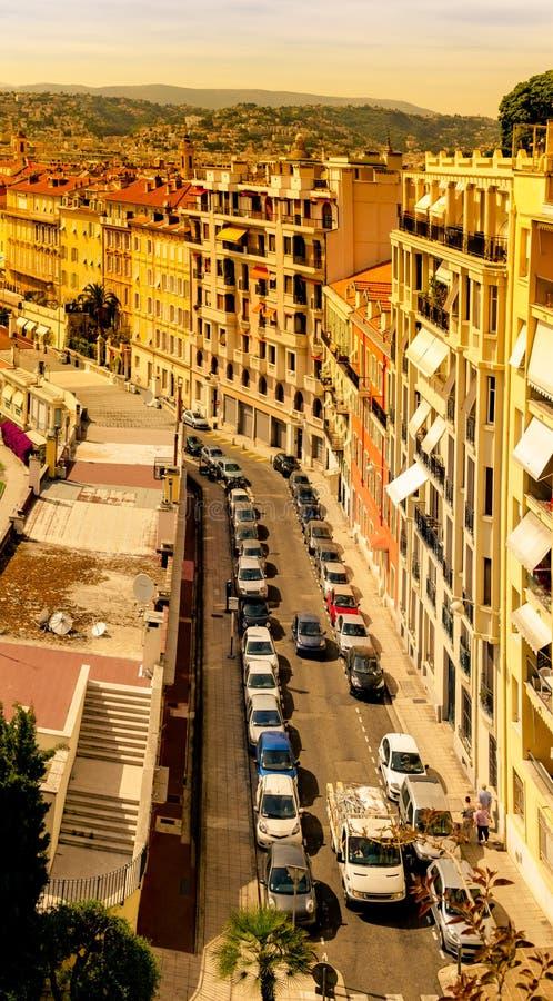 DES Anglais de promenade à Nice, Frances photos libres de droits