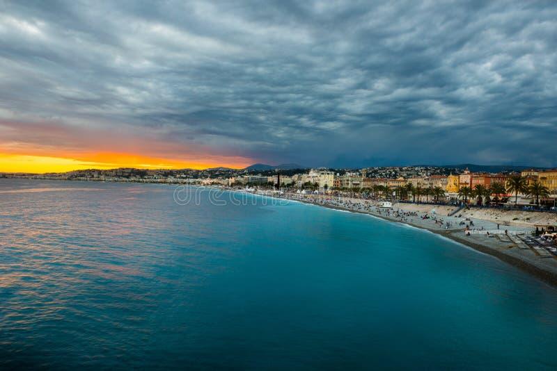 DES Anglais, Nice, France de promenade photo stock