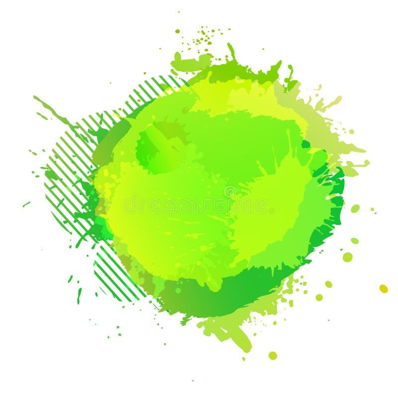 Des Aquarell-Spritzens des Gelbgrüns digitaler gemalter Hintergrund Vektor stock abbildung