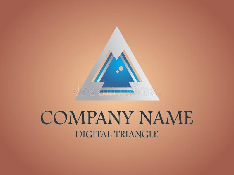 Des auf Lager digitale Dreieckzusammenfassung Logos stockbild