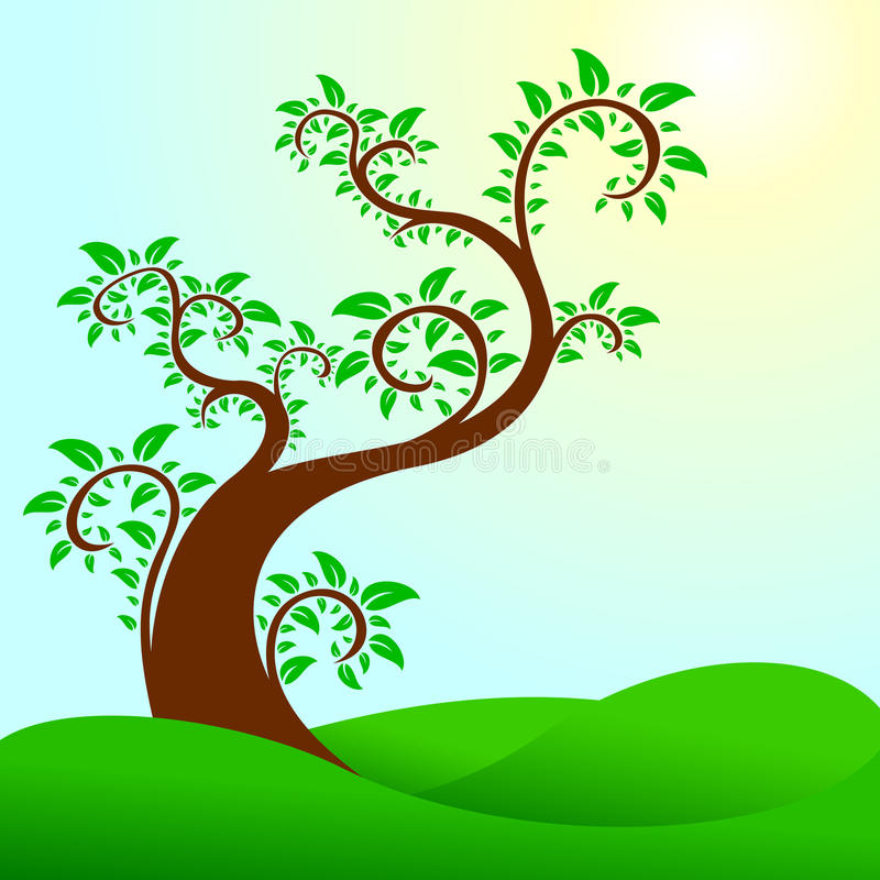 Des Auszuges Baum swirly stock abbildung