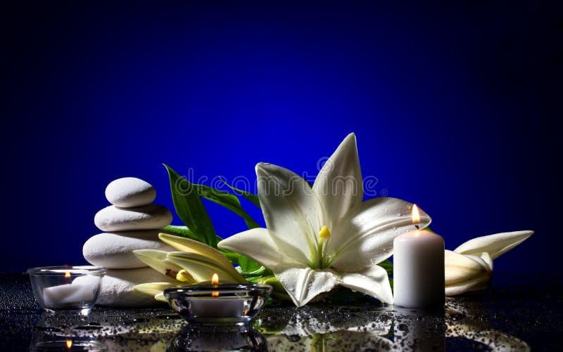 Des Badekurortes Leben noch mit Blume lizenzfreies stockfoto