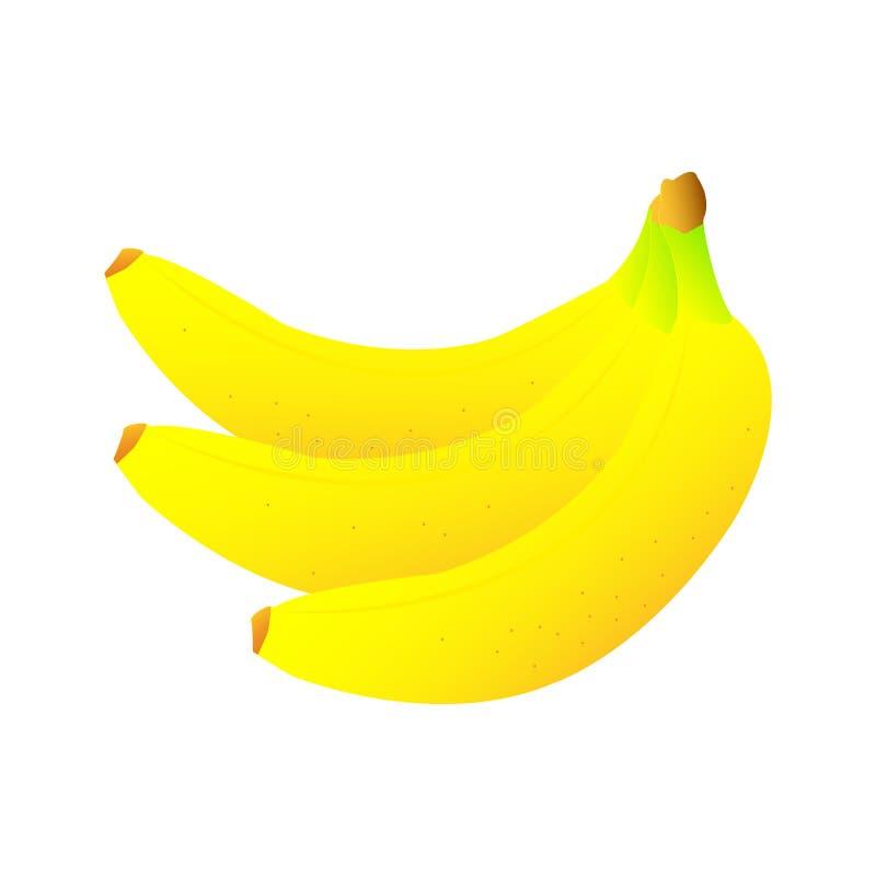 Des bananes douces et délicieuses merveilleuses sur un fond blanc illustration libre de droits