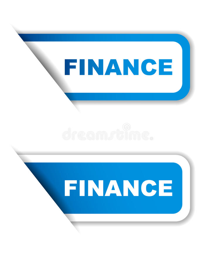 Des blauen Papiers Variante der Aufkleberfinanzierung zwei stock abbildung