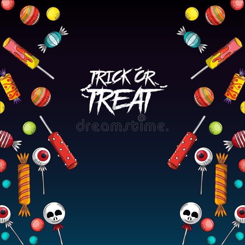 Des bonbons ou un sort Halloween illustration libre de droits