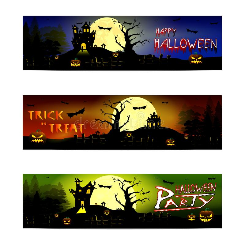 Des bonbons ou un sort heureux de Halloween illustration stock