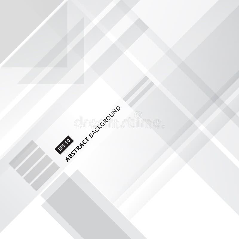 DES corporativo abstracto de la forma geométrica gris y blanca de la tecnología libre illustration