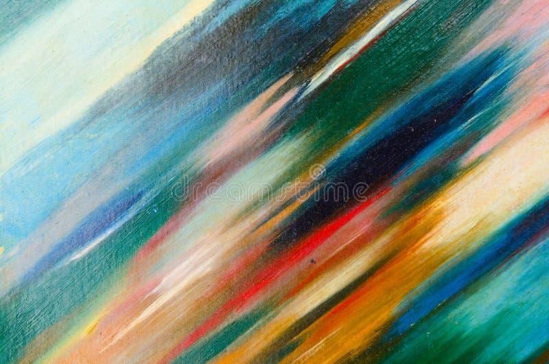 des couleurs douces sont appliquées diagonalement à la toile illustration stock